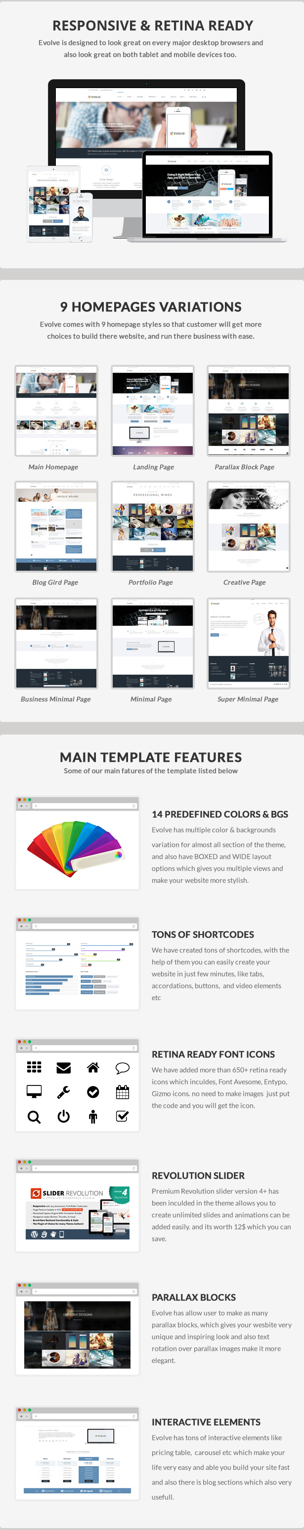 Evolve - Responsive Multi-Purpose Website Template